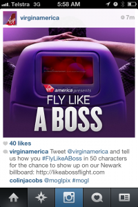 Instagram Virgin America Fly High Runway Digital