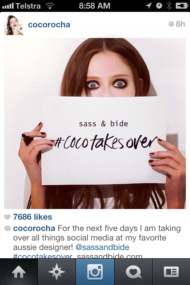 Who is doing well on Social Media? Coco Rocha…And how you can too!