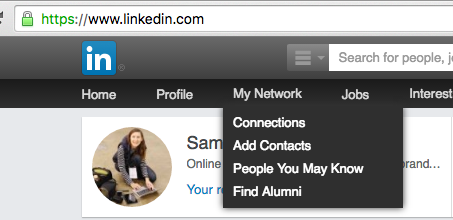 How do I remove a person I'm connected with on Linkedin