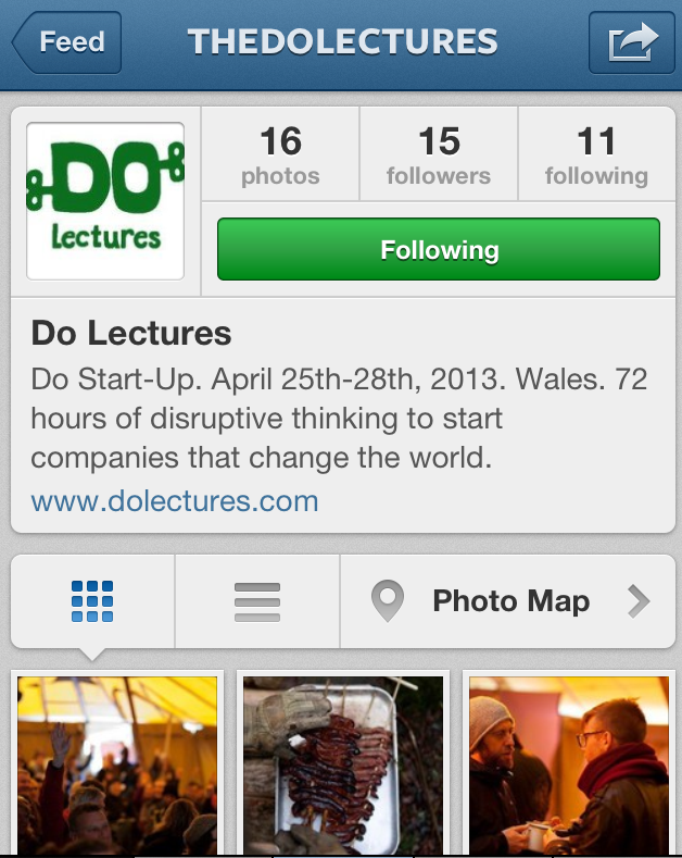 the DO Lectures on Instagram Case Study