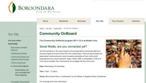Social Media presentation, Samantha Bell, Camberwell, Boroondara, Twitter, Content