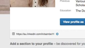 Linkedin Unique URL