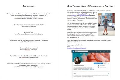 LinkedIn Style Book - example pages - Testimonials & Experience