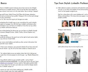 LinkedIn Style Book - example pages - The Basics & Tips from Stylish LinkedIn Professionals